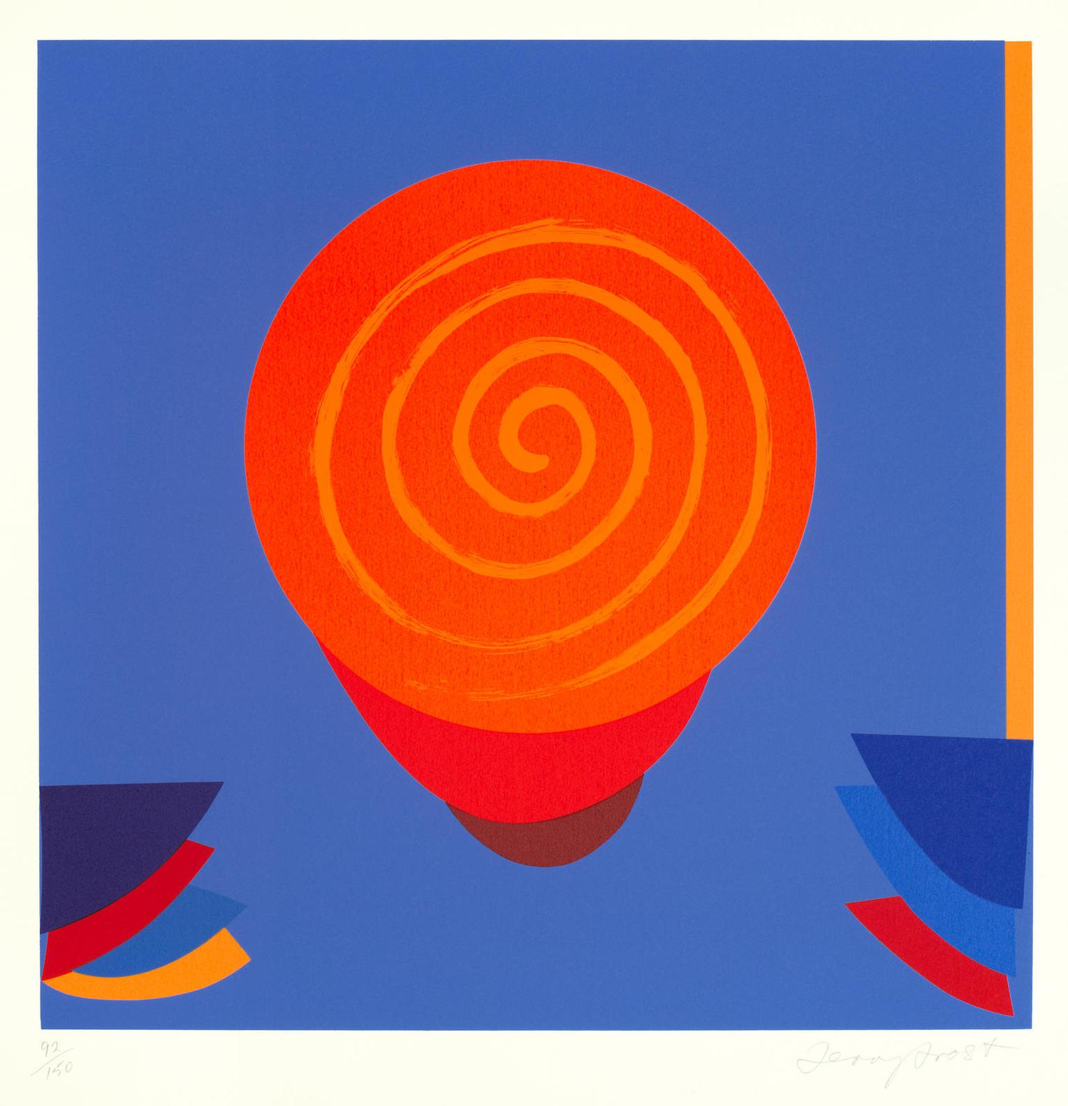 Terry Frost-Orange And Blue Space-1998