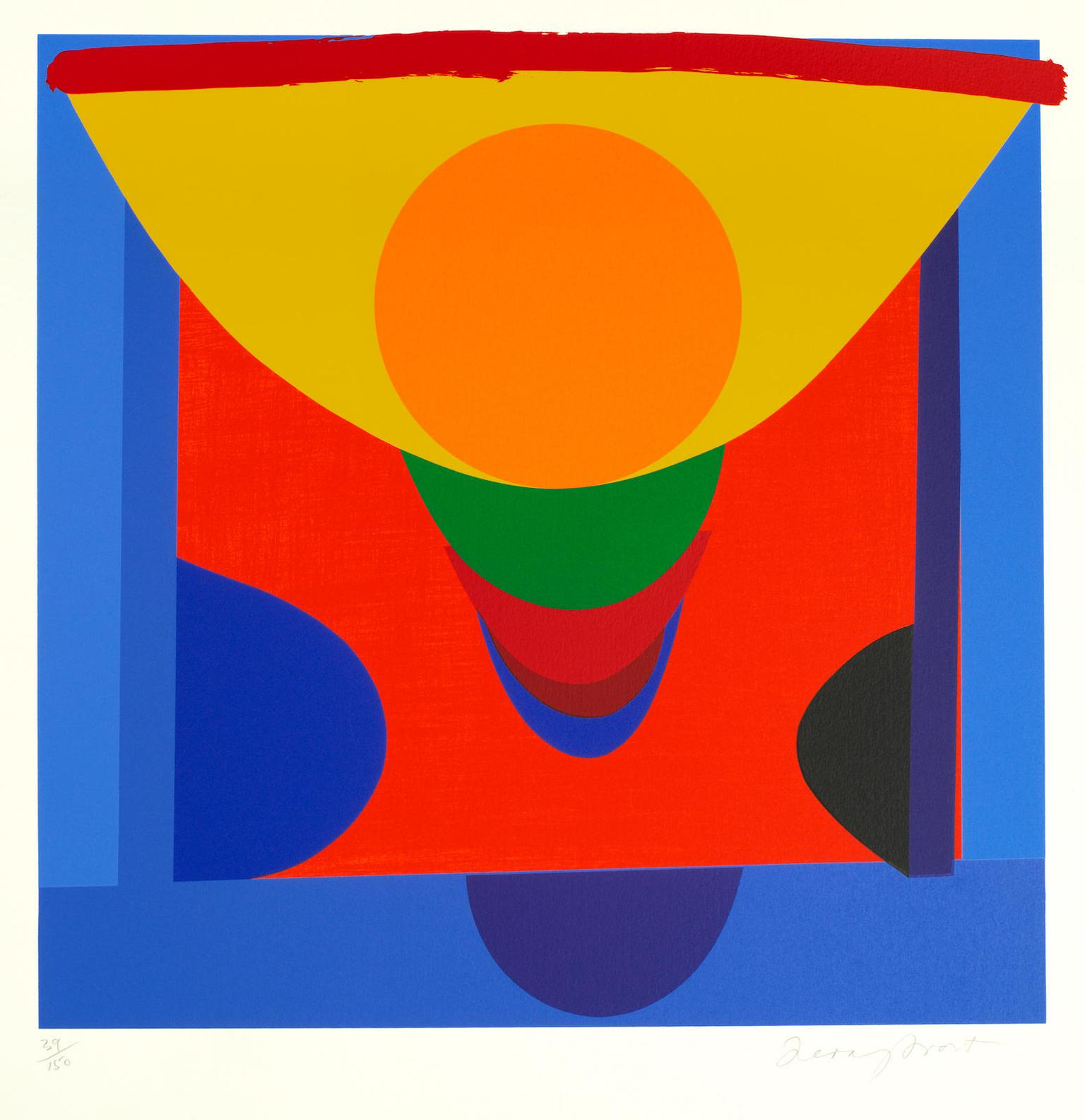 Terry Frost-Malaga Blue And Orange-1998