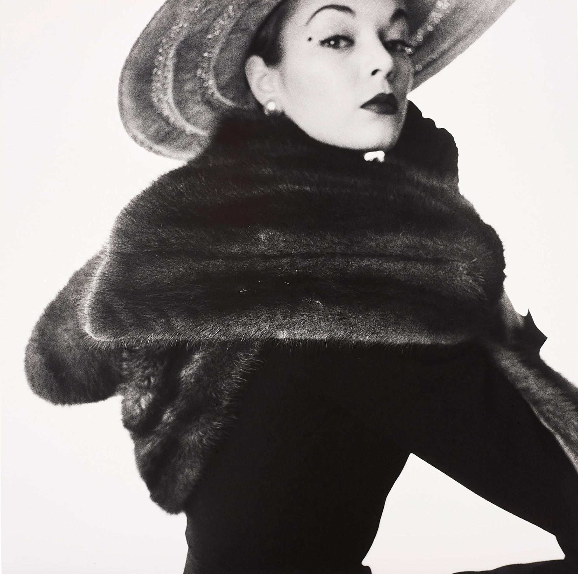 Irving Penn-Dior Fur Scarf (Jean Patchett), New York-1951
