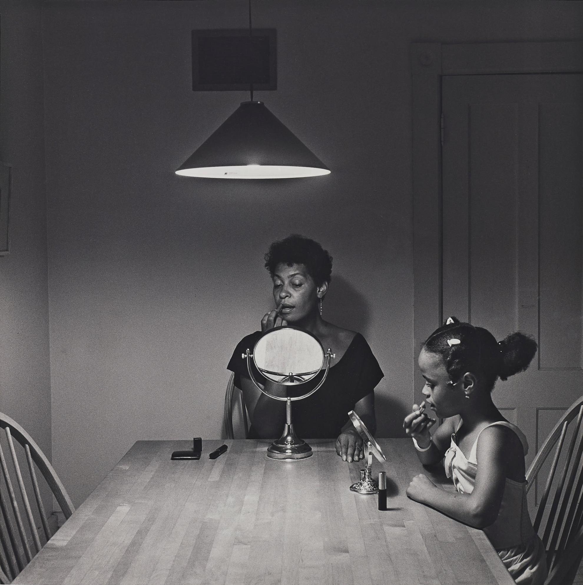 Carrie Mae Weems-Untitled (Woman And Daughter With Makeup) From Kitchen Table Series-1990