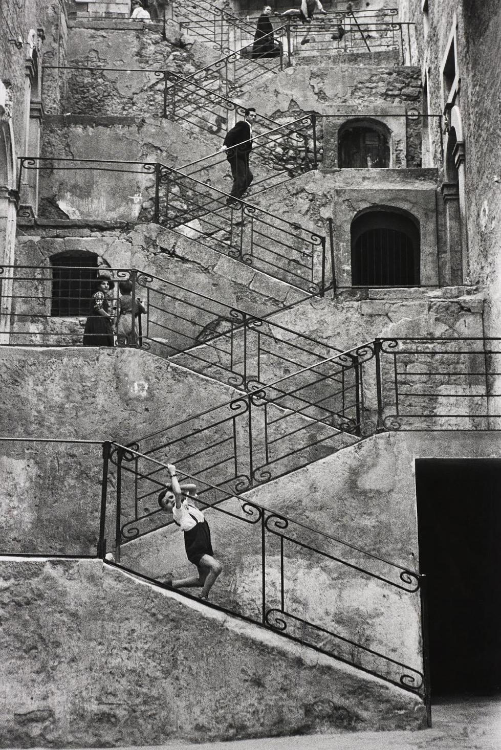Rene Burri-Leonforte, Sicily, Italy-1956