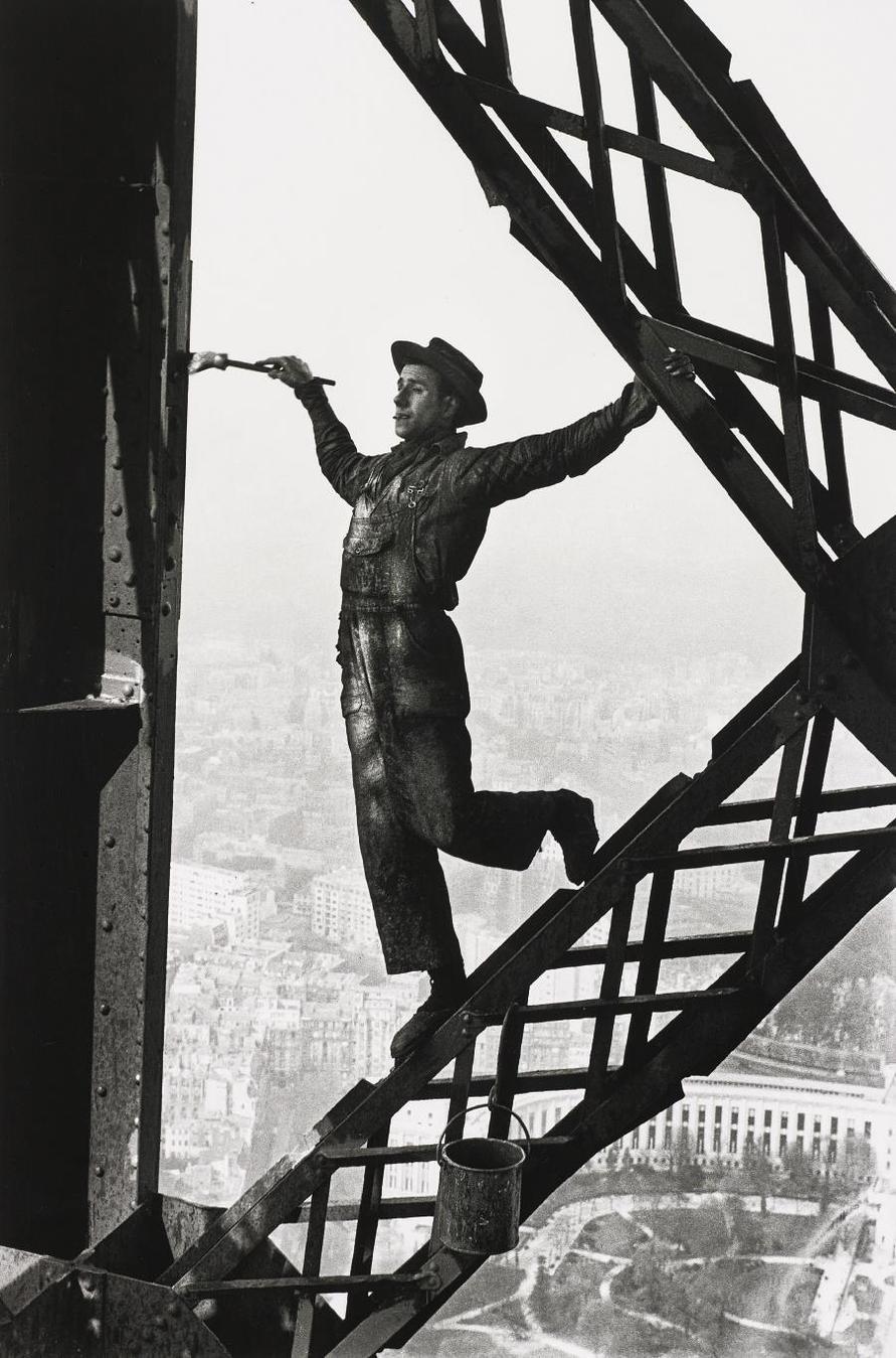 Marc Riboud-The Painter Of The Eiffel Tower, Paris, France-1953