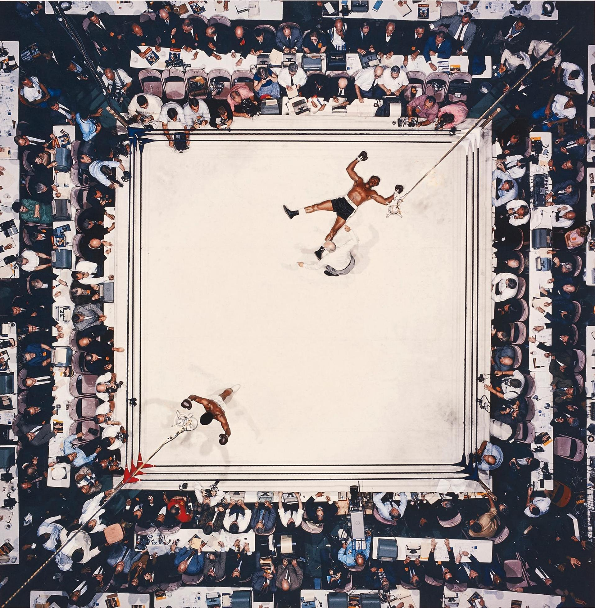 Neil Leifer-Aerial Of Muhammad Ali Victorious After His Round Two Knockdown Of Cleveland Williams During The 1966 World Heavyweight Title Fight At The Astrodome, Houston, Texas, November 14-1966