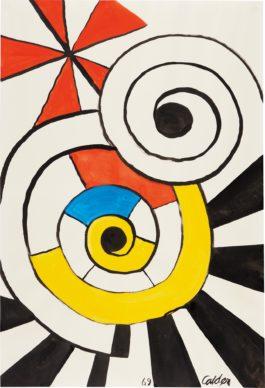 Alexander Calder-Overlapping Spirals-1969