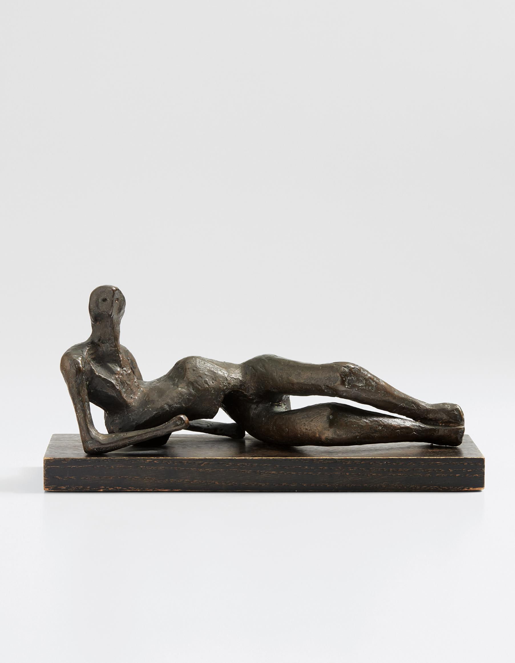 Henry Moore-Maquette For Reclining Figure No. 2-1952