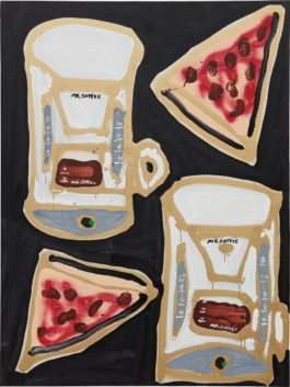 Katherine Bernhardt-Mr. Coffee And Pizza-2014