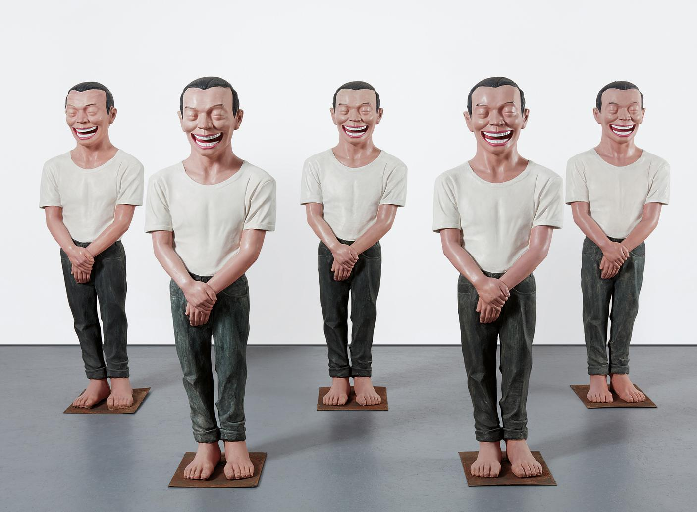 Yue Minjun-Five Works:-2002