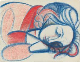 Pablo Picasso-Portrait De Femme Endormie. III-1946