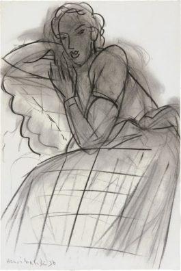 Henri Matisse-Jeune Fille Accoudee-1938