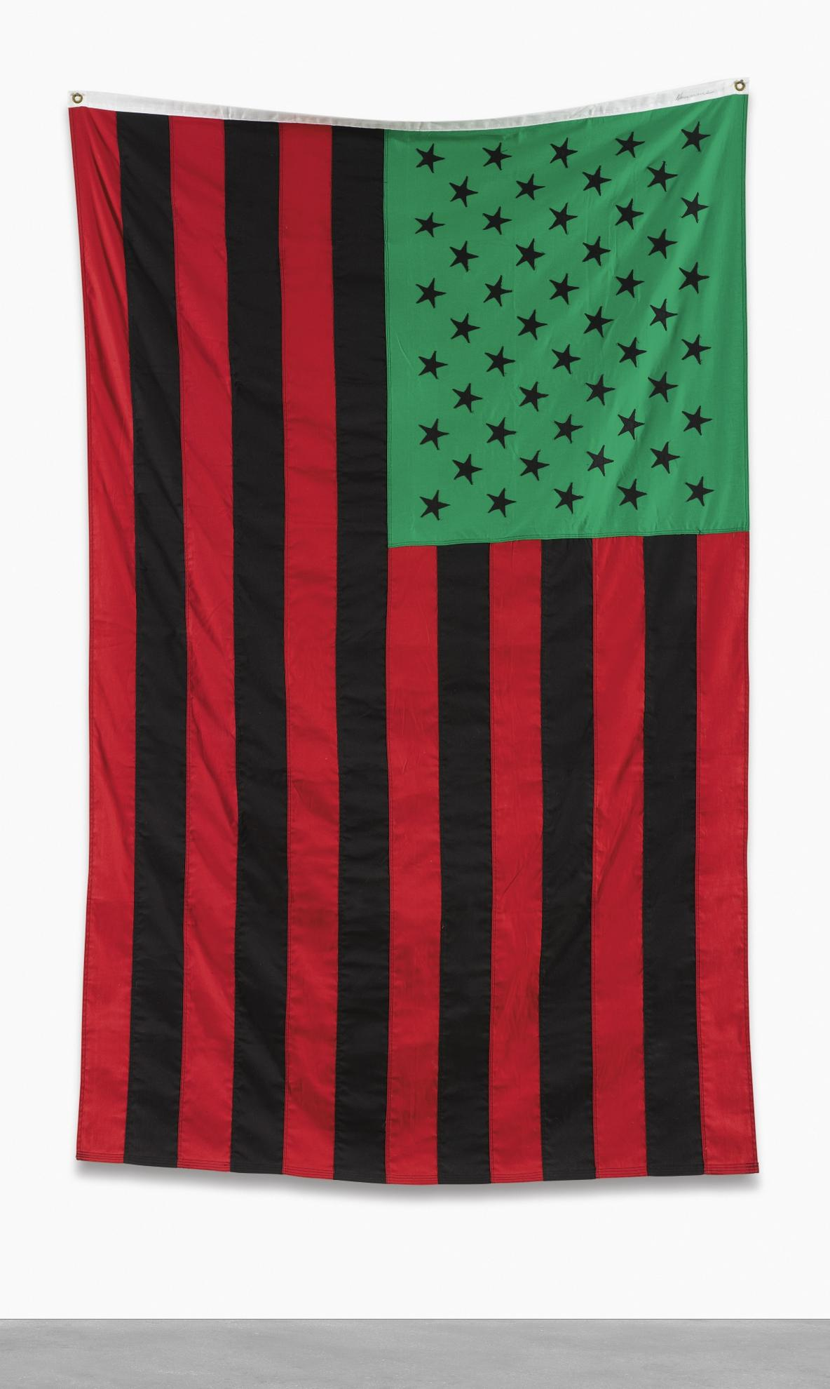 David Hammons-African American Flag-1990