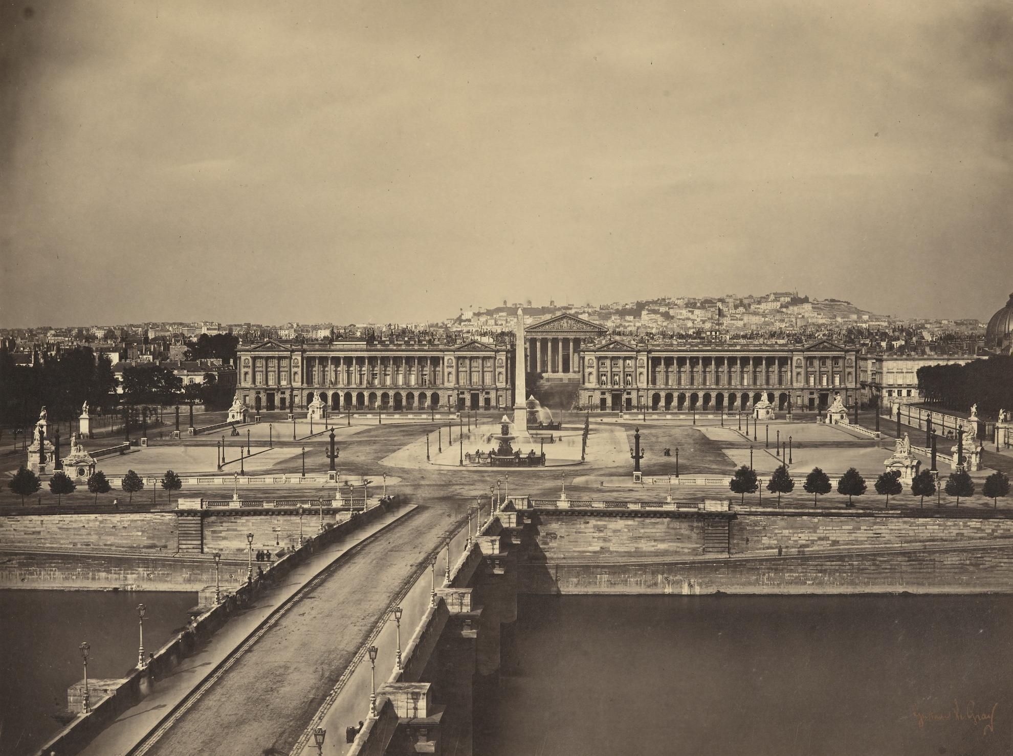 Gustave Le Gray-Place De La Concorde, Paris-1859