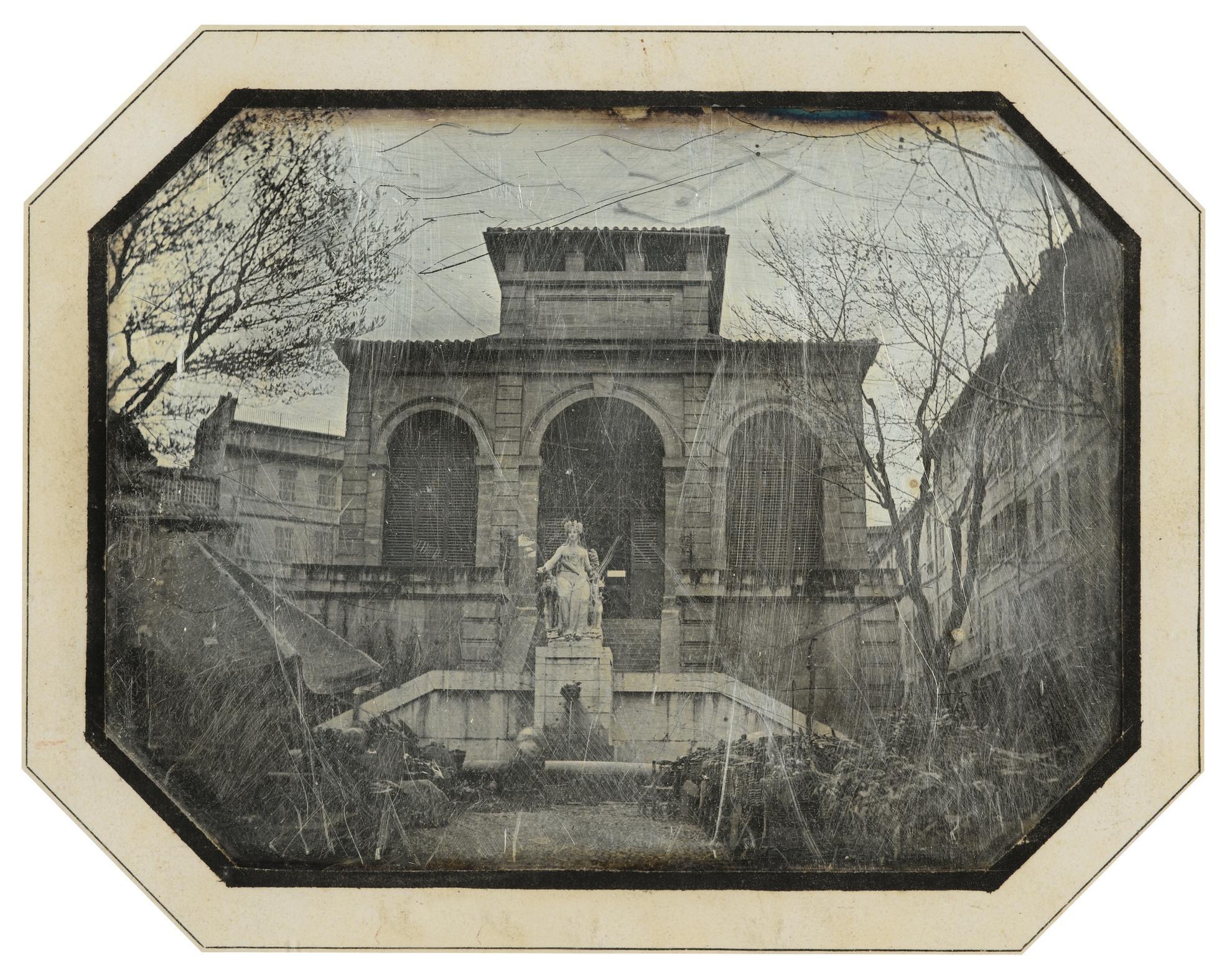 Anonyme - Halle Des Capucins, Marche Aux Fleurs, Marseille-1840