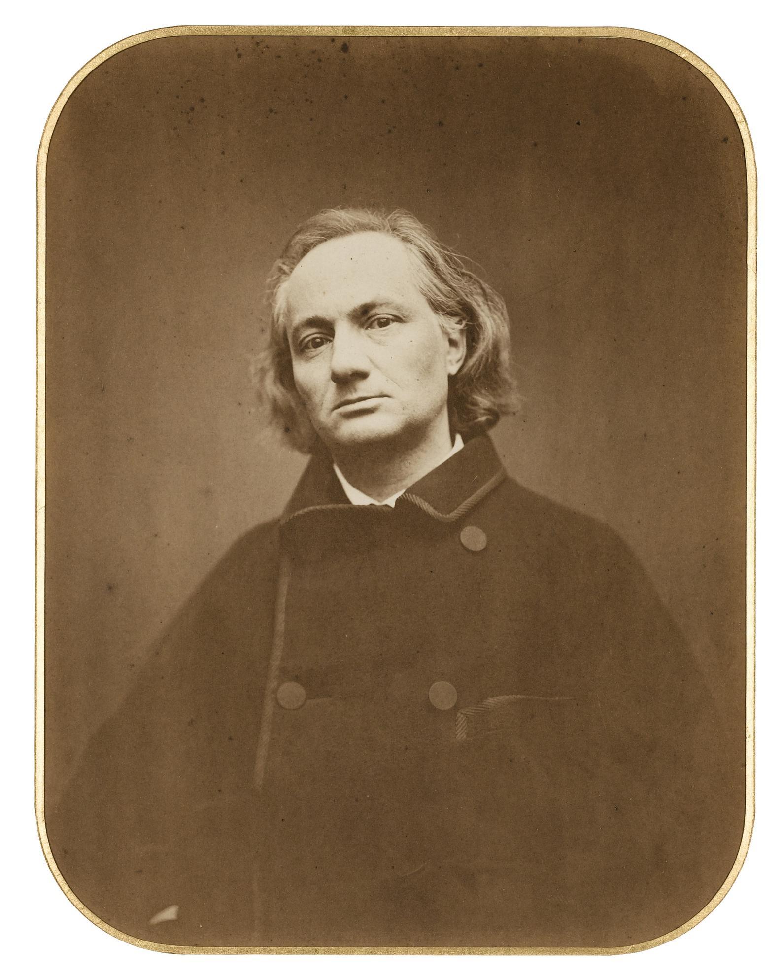 Etienne Carjat-Charles Baudelaire, Le Dernier Portrait, Paris-1865