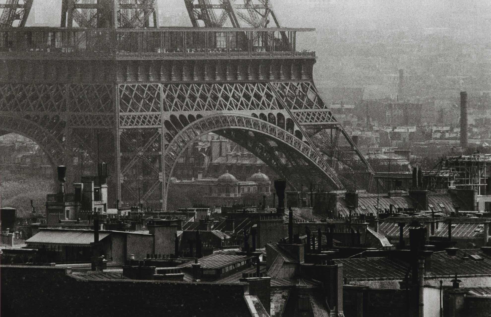 Frank Horvat-Eiffel Tower And Roof Tops, Paris-1956