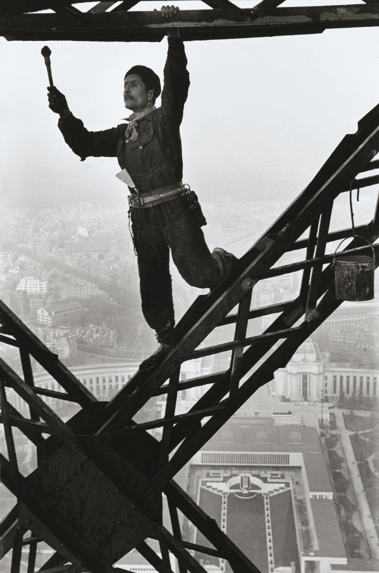 Marc Riboud-Painter On The Eiffel Tower, Paris-1953
