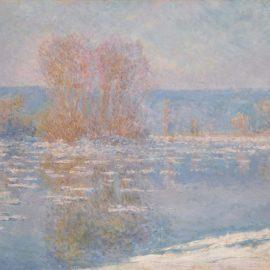 Claude Monet-Les Glacons, Bennecourt-1893