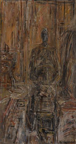 Alberto Giacometti-Femme Assise (La Mere De L'Artiste)-1947