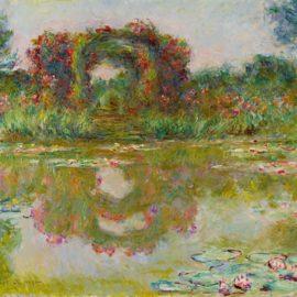 Claude Monet-Les Arceaux De Roses, Giverny-1913