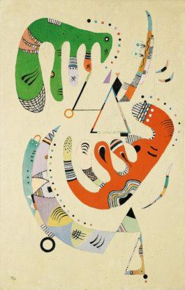 Wassily Kandinsky-Vert Et Rouge-1940