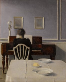Vilhelm Hammershoi - Interior With Woman At Piano, Strandgade 30-1901