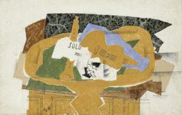 Georges Braque-Gueridon Jaune, Avec Clarinette, Partition Et Guitare-1921