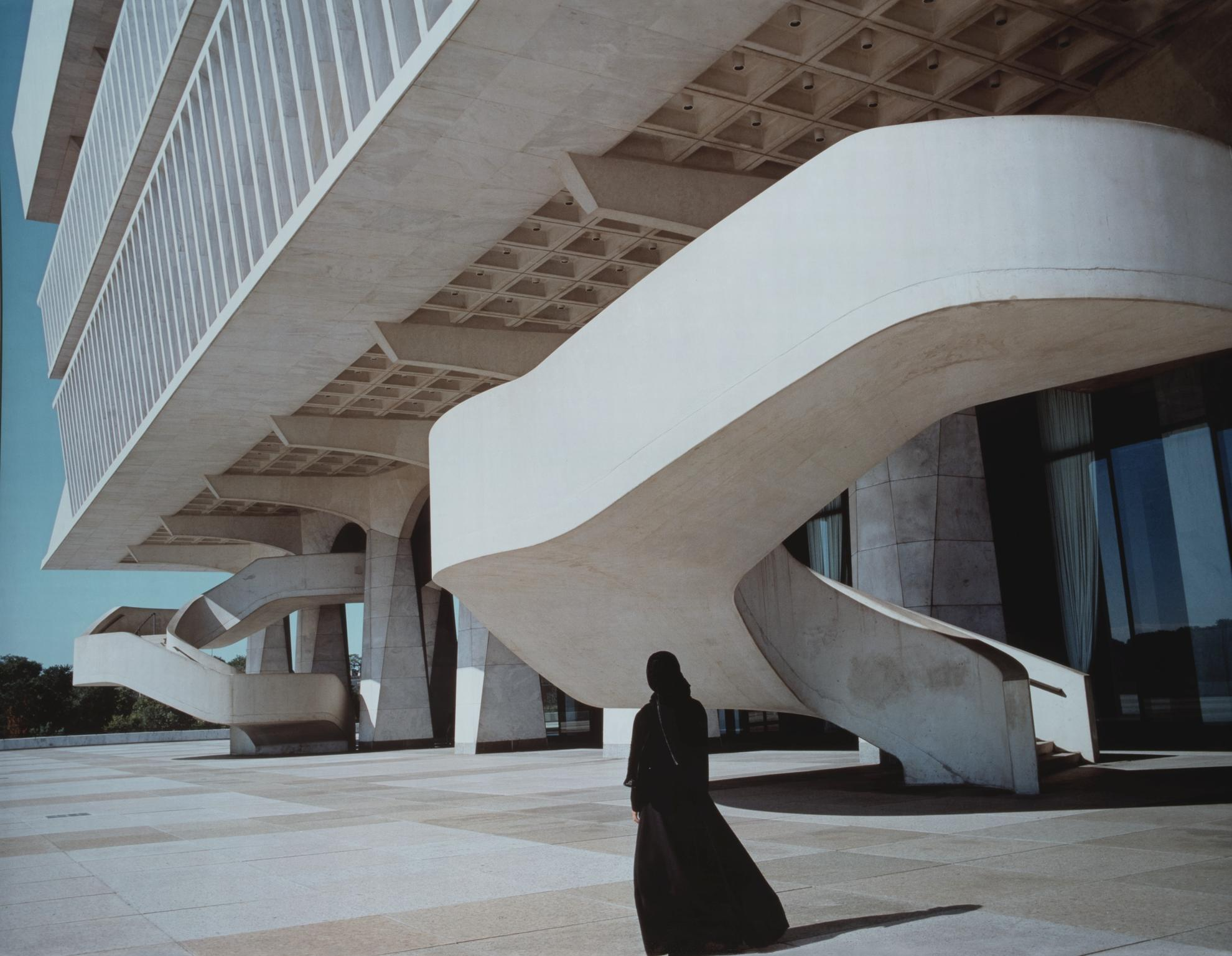 Shirin Neshat-Soliloquy Series (Modern Building)-1999