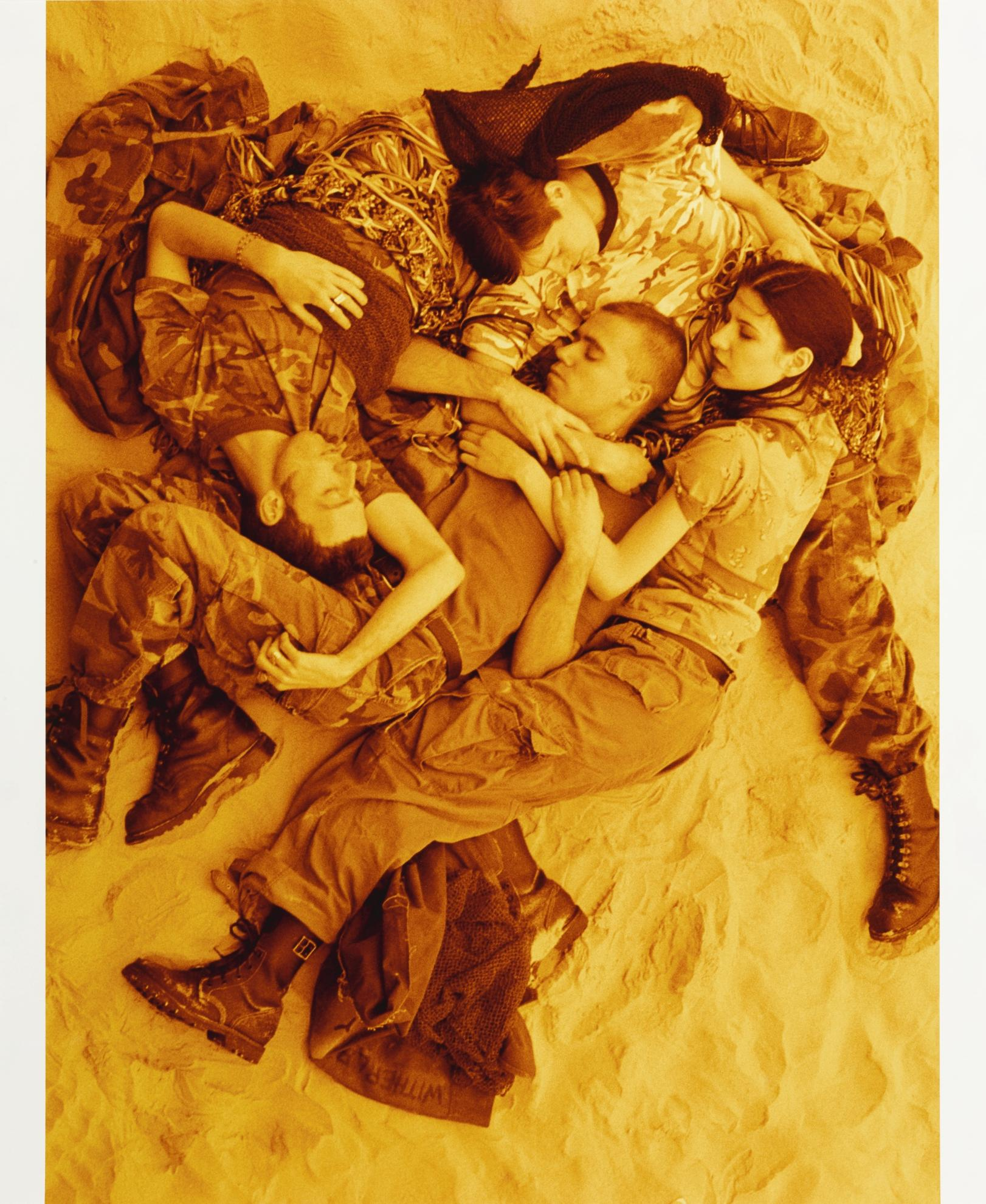 Wolfgang Tillmans-Lutz, Alex, Susanne & Christoph On Beach (Orange)-1993
