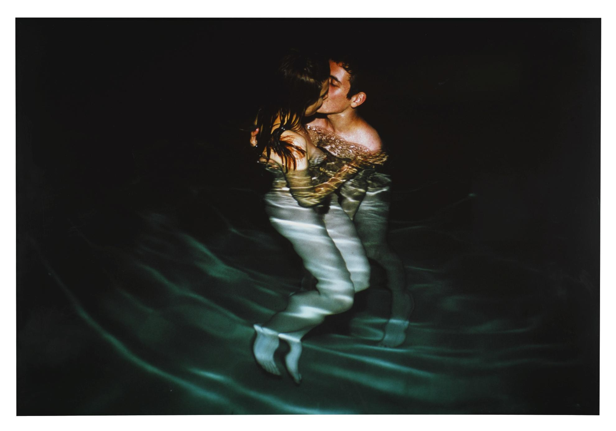 Nan Goldin-Simon And Jessica Kissing In Yvons Pool-2001