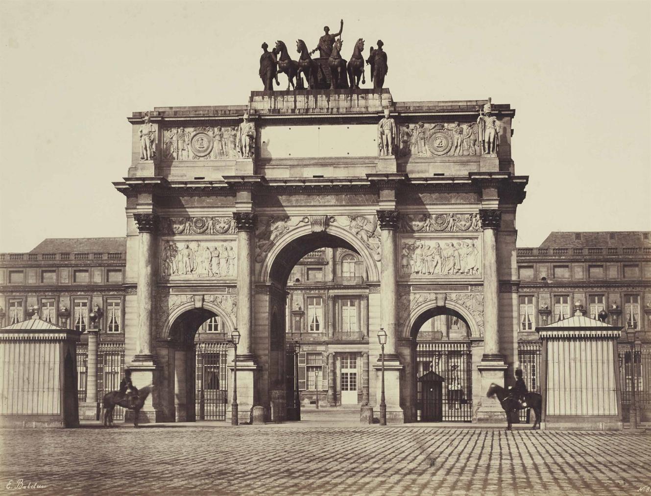 Edouard Baldus-Arc Du Carrousel-1853