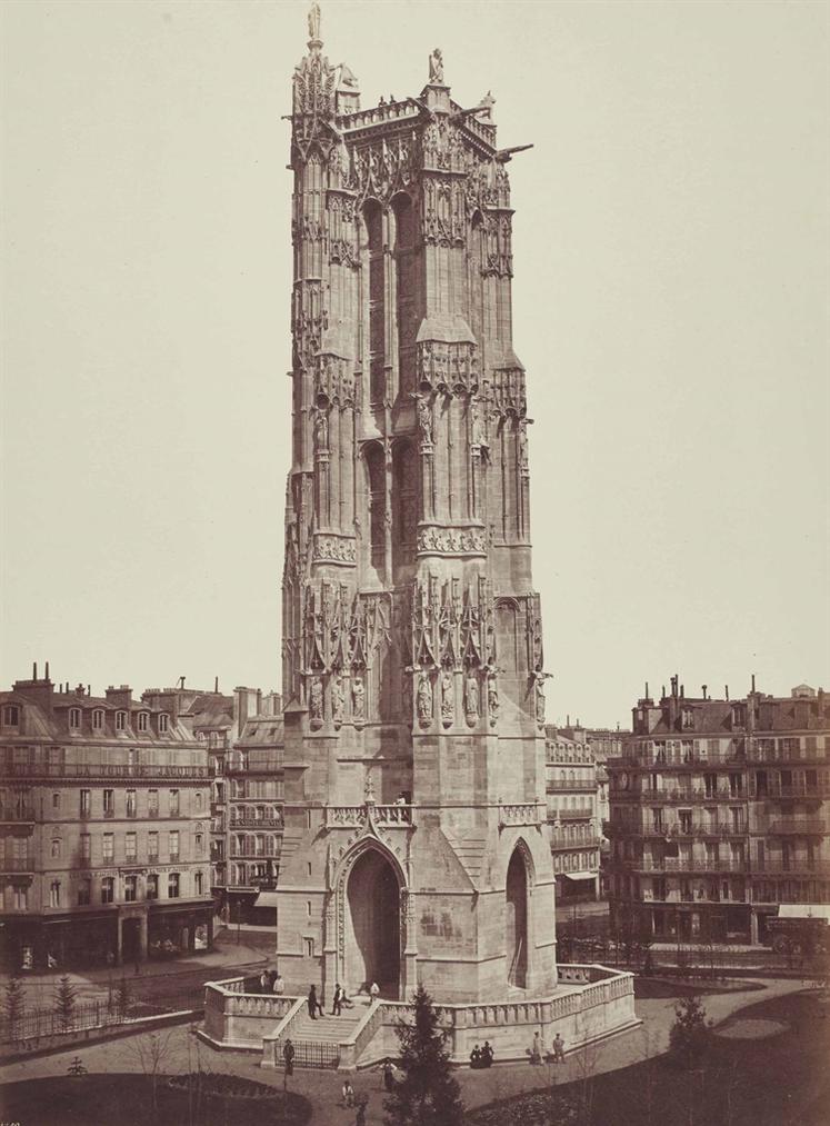 Edouard Baldus-La Tour Saint-Jacques-1858