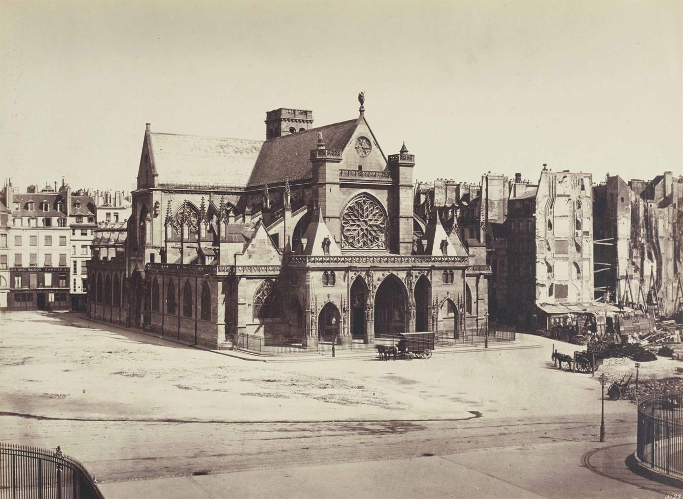 Edouard Baldus-Eglise Saint-Germain L Auxerrois-1854