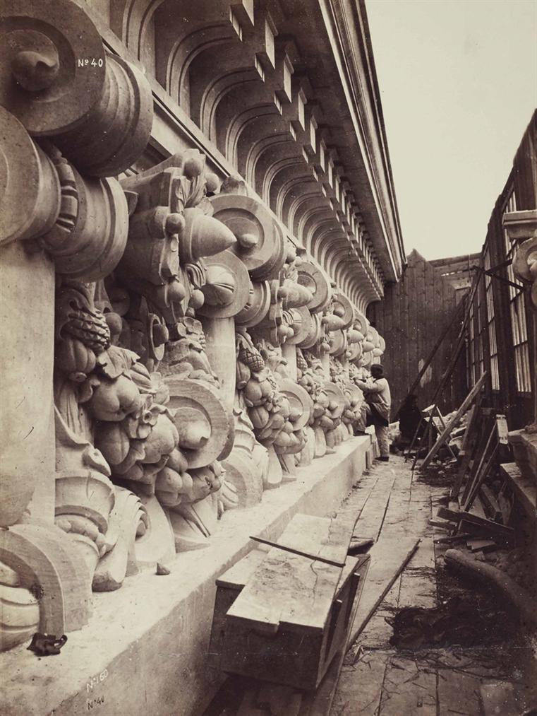 Louis-Emile Durandelle  - Le Nouvel Opera De Paris. Sculpture Ornementale N°40. Le Sculpteur De Pierre-1868