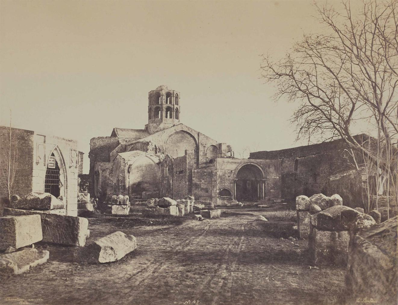 Edouard Baldus-Cimetiere Romain, Arles-1853