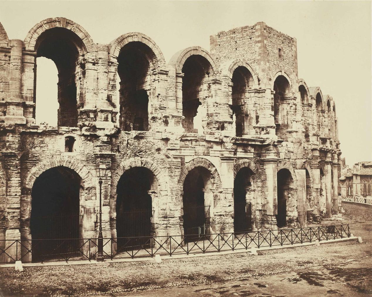 Edouard Baldus-Amphitheatre, Arles-1854