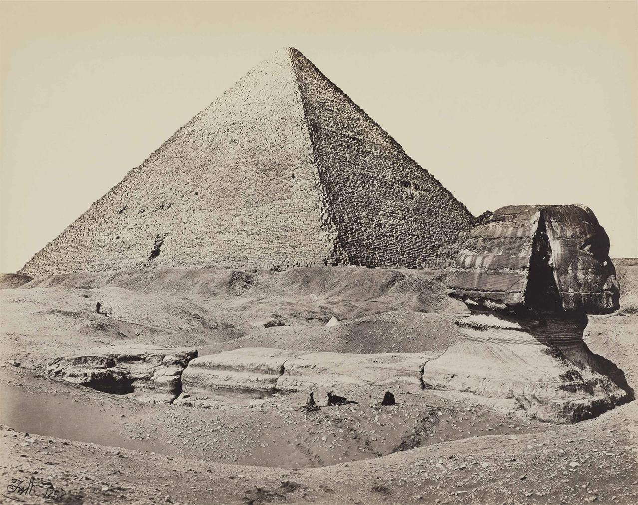 Frances Frith-The Great Pyramid And The Great Sphinx-1858