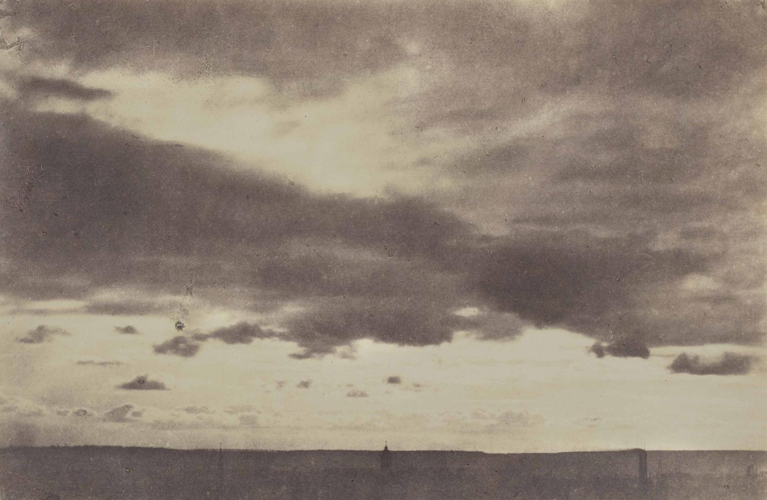 Charles Marville-Nuages Et Horizon De Paris-1850