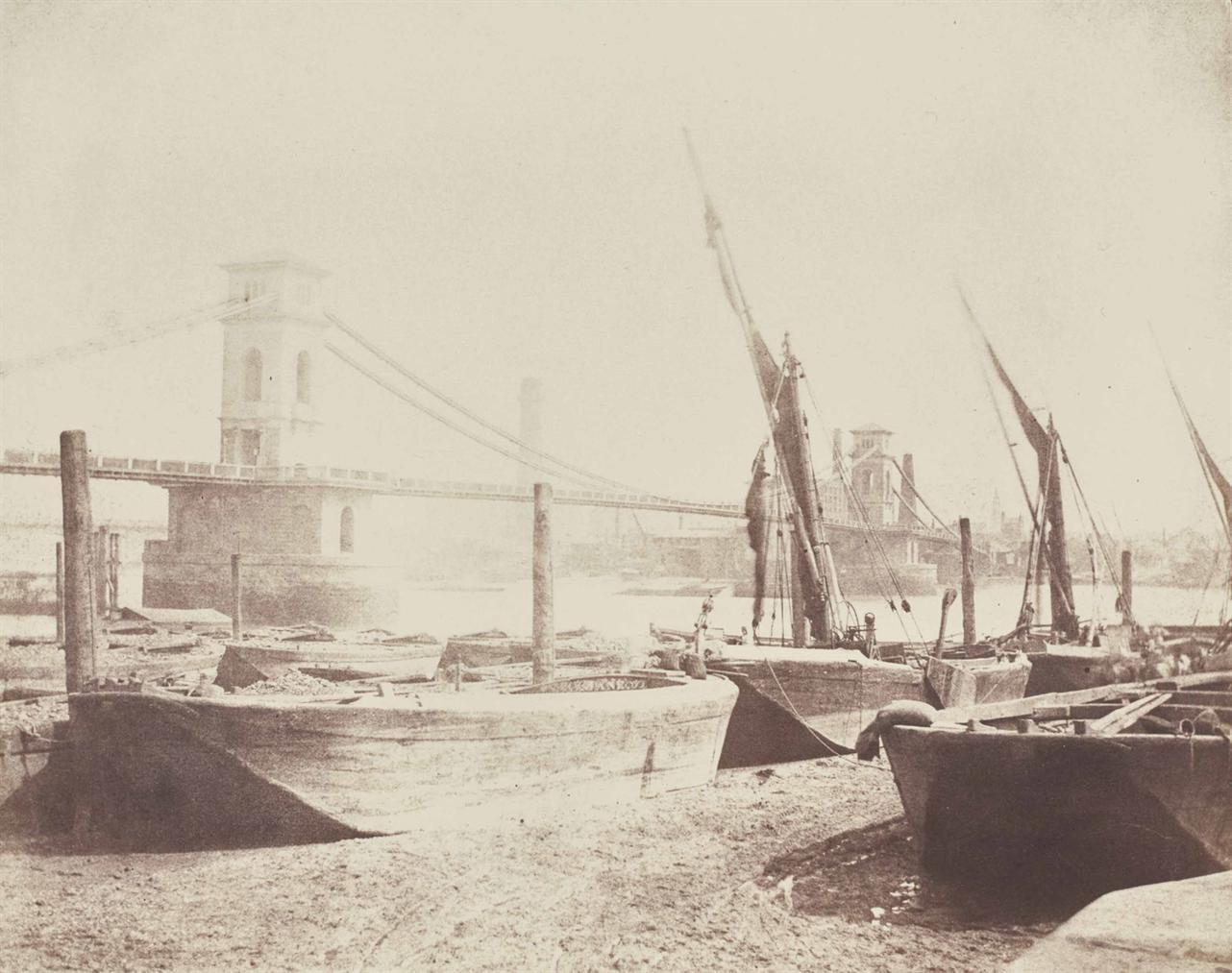 William Henry Fox Talbot-Hungerford Suspension Bridge-1845