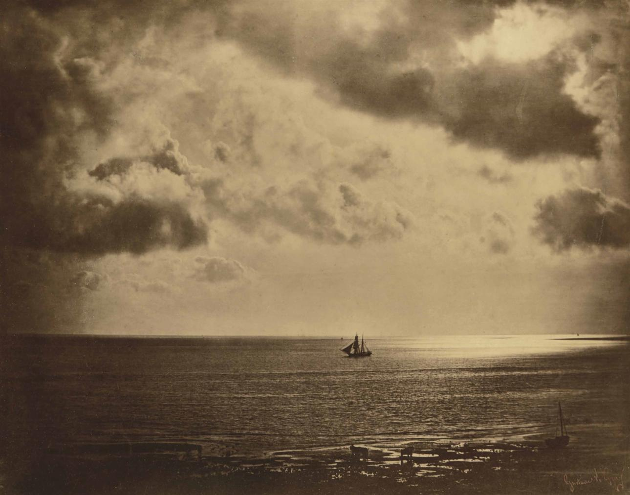 Gustave Le Gray-Brick Au Clair De Lune-1856