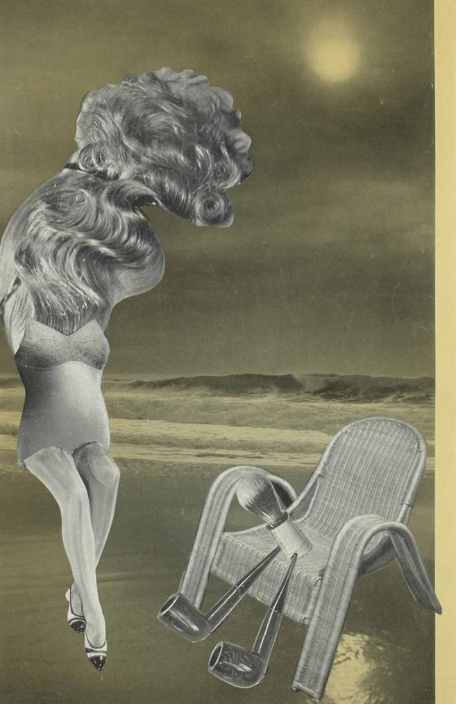 Leo Malet - Incendie De Jeune Fille, 3 Gouttes De Sperme Eteignent Le Feu, A Georges Hugnet-1935