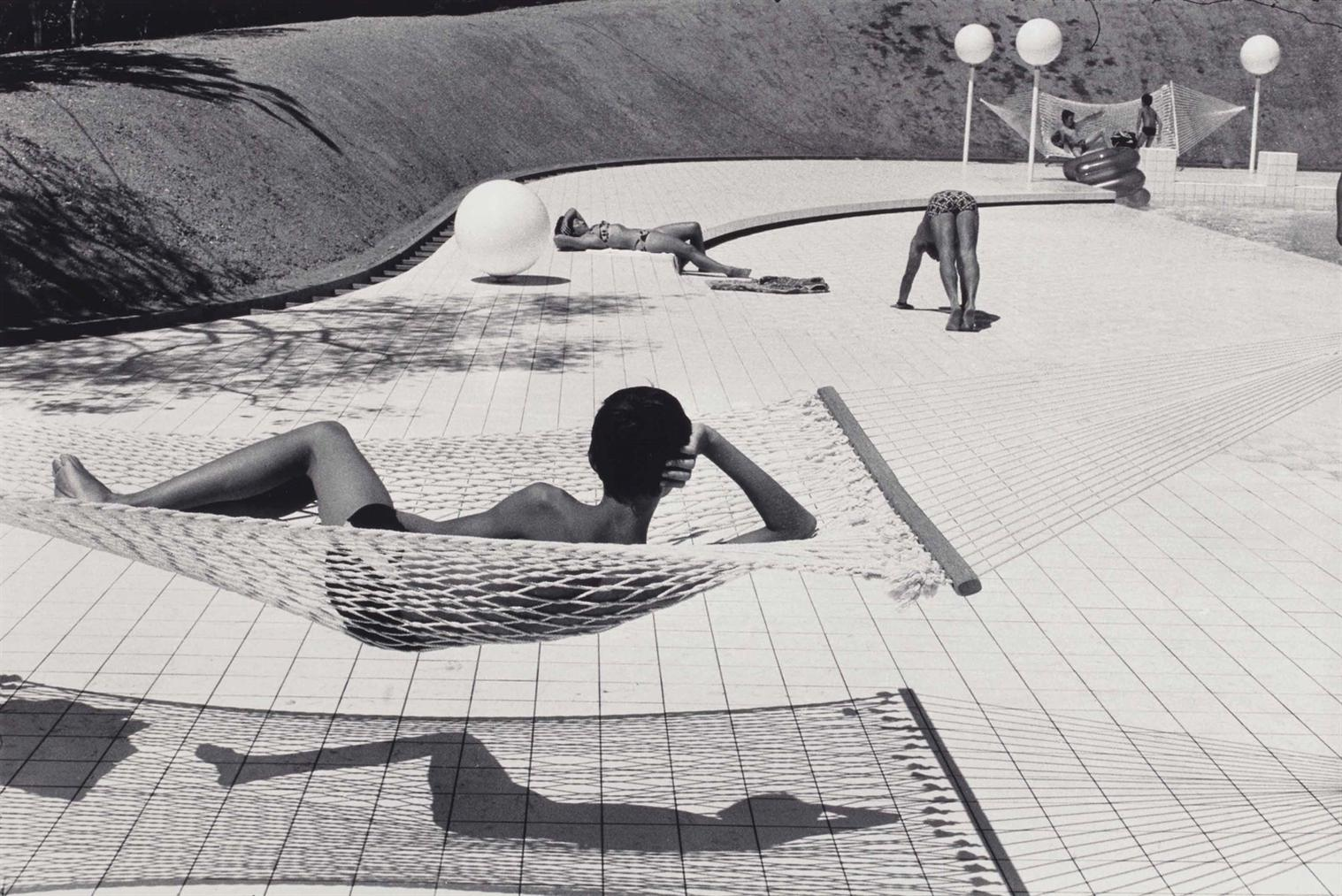 Martine Franck-Piscine Dessinee Par Alain Capeilleres, La Brusc, France-1976
