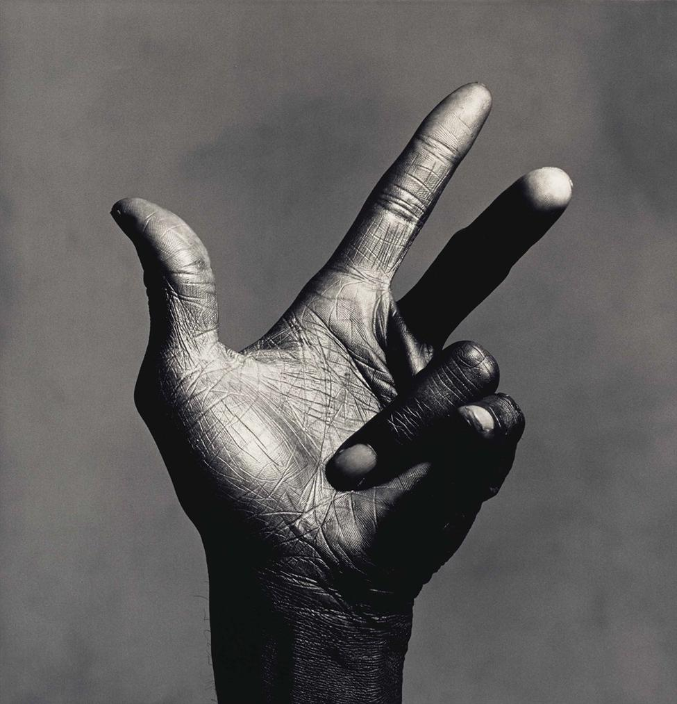 Irving Penn-The Hand Of Miles Davis (B), New York-1986