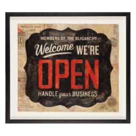 Shepard Fairey-Open Sign-2014