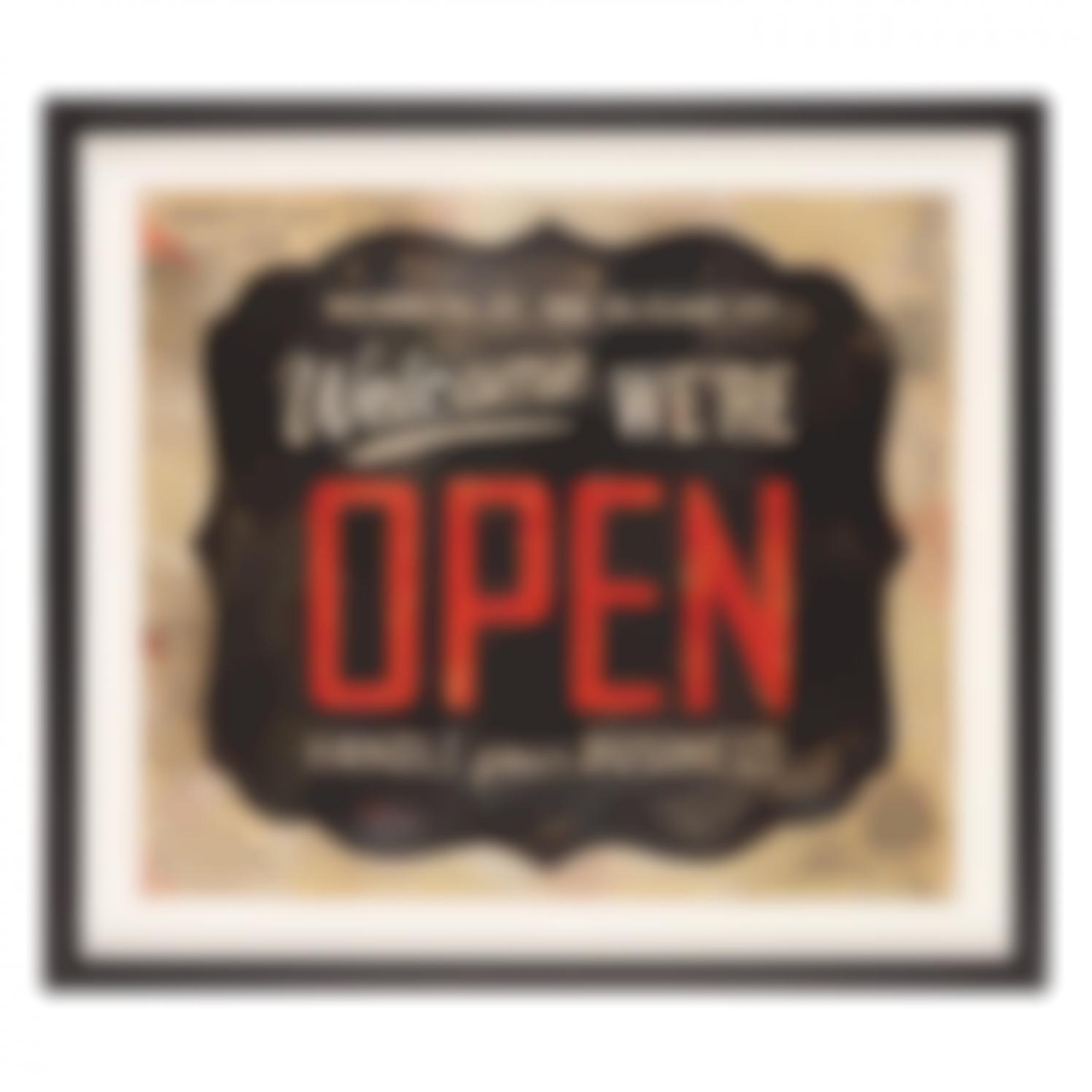 Shepard Fairey-Open Sign-2014