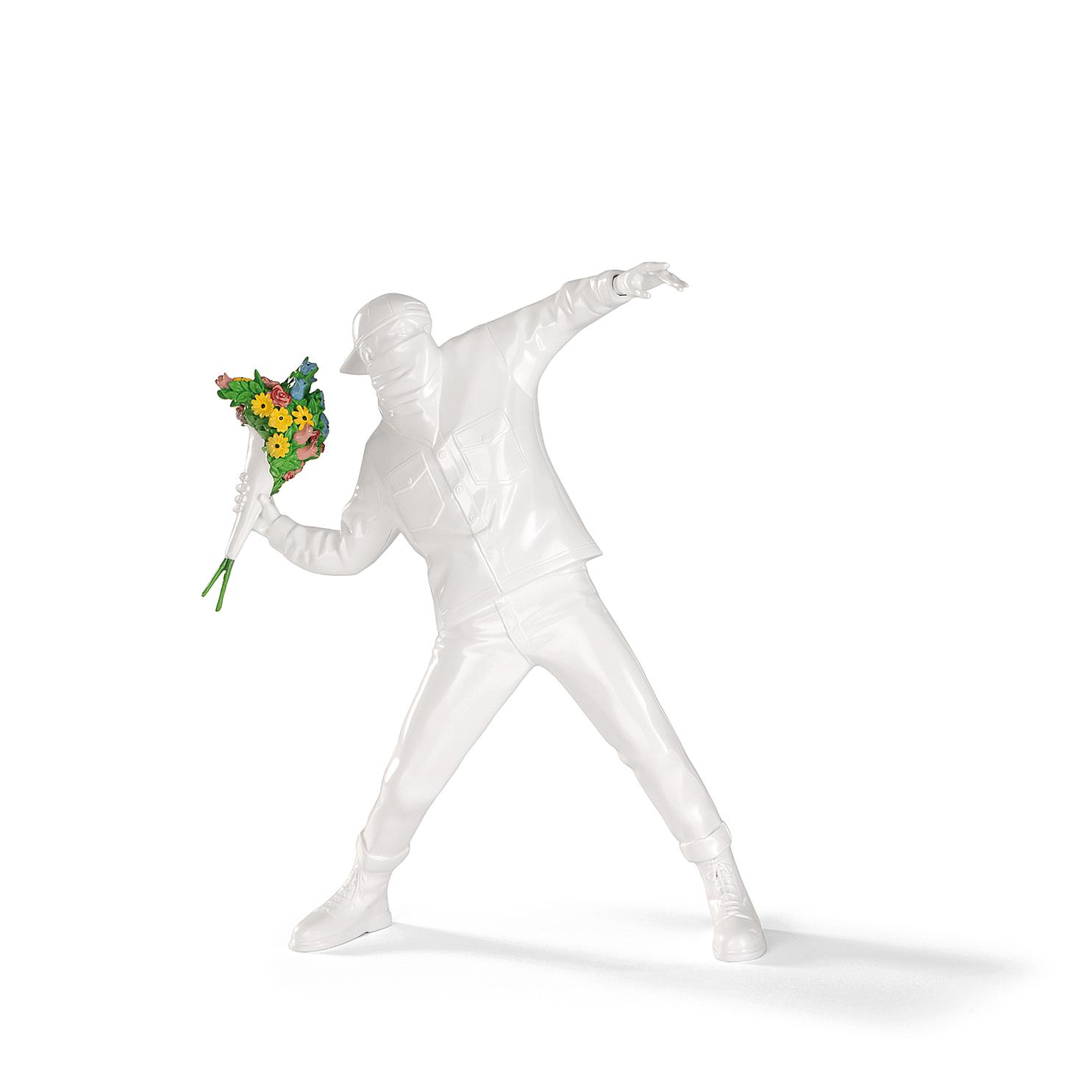Banksy-Banksy Brandalism - Flower Bomber (White)-2017
