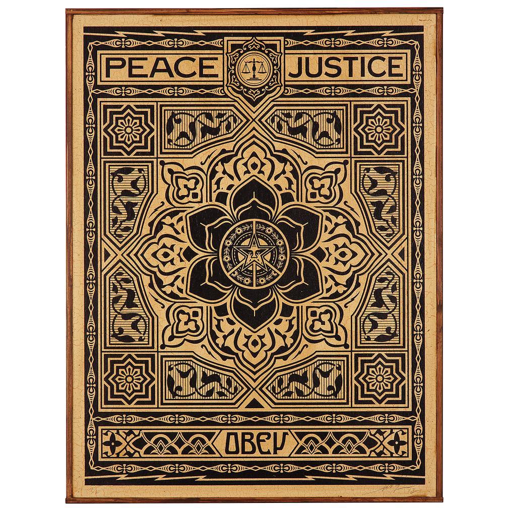 Shepard Fairey-Peace & Justice-2012