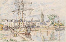 Paul Signac-Paimpol, La Violette A Quai-1925
