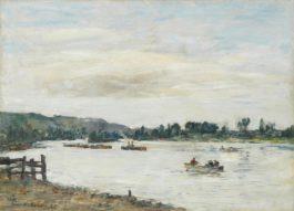 Eugene Louis Boudin-La Seine, Environs De Rouen-1895