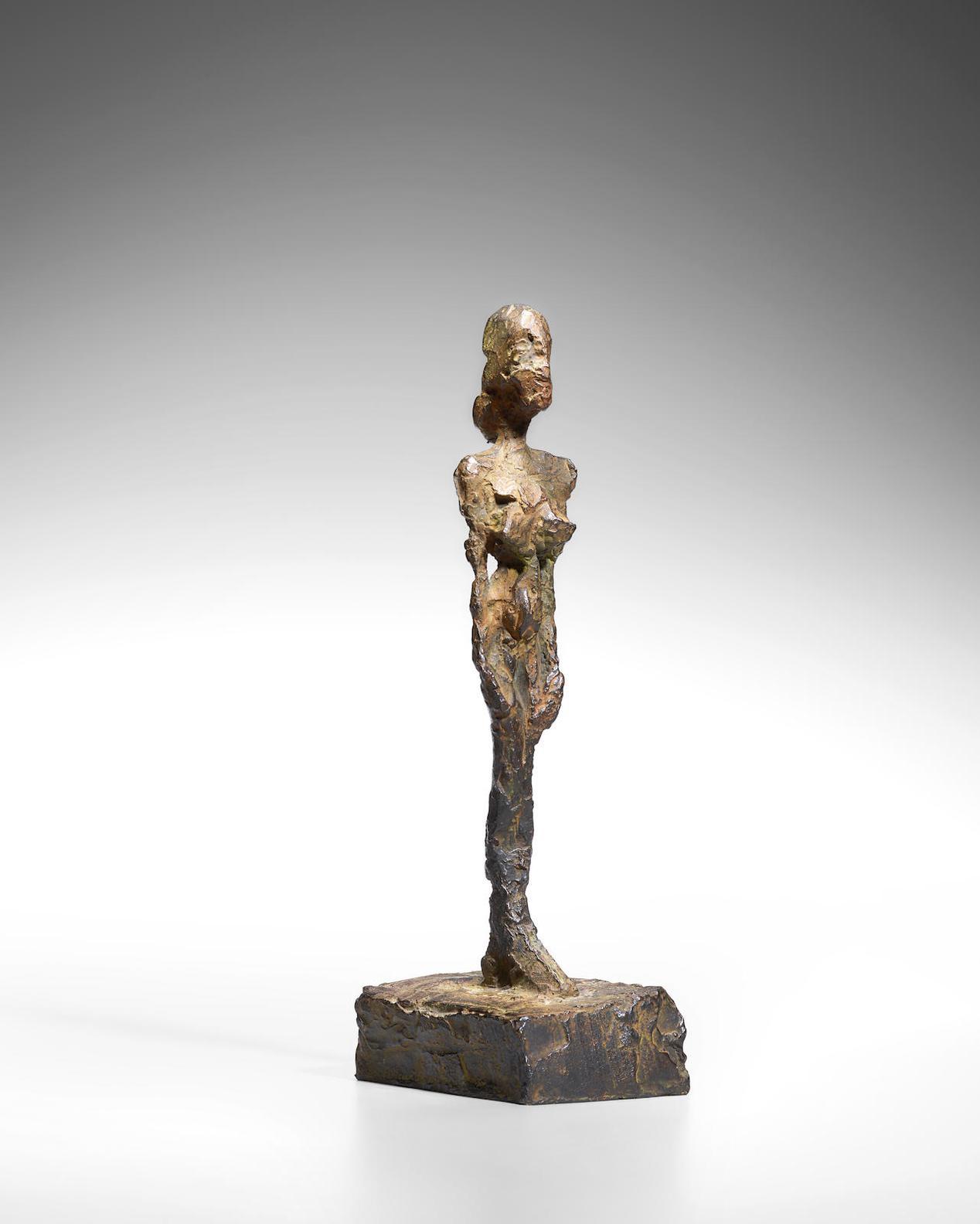 Alberto Giacometti-Figurine [Femme Debout Au Chignon]-1980