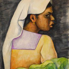 Diego Rivera-Nina Con Velo Blanco-1937