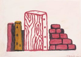 Philip Guston-Untitled (Wood And Wall)-1971